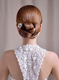 Interesting variation on a formal bun / hair up-do