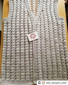 bayan yelek modelleri (42) - Canım Anne Crochet Motif, Diy Crochet, Crochet Hats, Knitting Projects, Anne, Blouse, Sweaters, Women, Fashion
