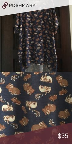 Lularoe Irma Bunnies XS Excellent condition Lularoe Irma LuLaRoe Tops