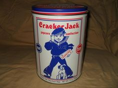 1990 LIMITED EDITION CRACKER JACK TIN.  1 of 5.   In small tins box #6.