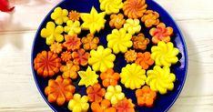 お弁当の彩りに♡ まとめて作って冷凍しておけば便利です(*'▽'*)♪ New Year Menu, Fruit And Vegetable Carving, Bento Recipes, Asian Recipes, Ethnic Recipes, Sushi Design, Food Decoration, Japanese Food, Food Styling