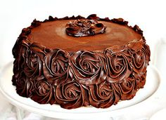 Chocolate Cake Recipe - i am baker Perfect Chocolate Cake, I Love Chocolate, Chocolate Shop, Yummy Treats, Delicious Desserts, Sweet Treats, I Am Baker, Pretty Cakes, Let Them Eat Cake
