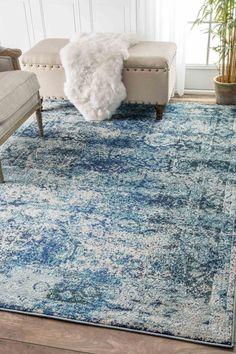 Gorgeous Ocean blue nuLOOM Vintage Shuler Rug
