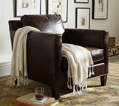 Anderson Leather Armchair #potterybarn