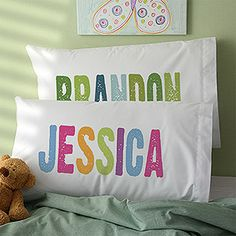 All Mine! Personalized Pillowcase at Personalized Mall.com