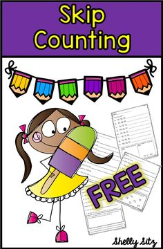 Skip counting for second grade--FREE second grade math Math Strategies, Math Resources, Math Worksheets, Subtraction Strategies, School Resources, Classroom Resources, Classroom Ideas, Skip Counting Activities, Counting Money