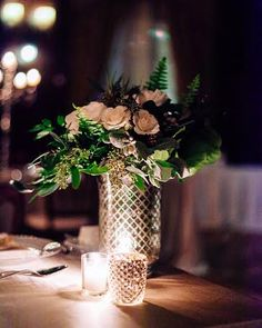 This whimsical affair filled with hot cocoa, sleigh rides, and lush blooms will have you dreaming of a 'White Wedding'. Table Centerpieces, Table Decorations, Style Me, Sleigh Rides, Bloom, Cozy, Winter, Pretty, Pictures