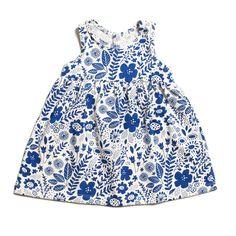 Oslo Baby Dress - Wildflowers Blue