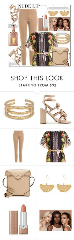 """""""Nude Lip"""" by helenaymangual ❤ liked on Polyvore featuring Aurélie Bidermann, Laurence Dacade, By Malene Birger, Etro, MANU Atelier, Marc Jacobs, tarte and Tom Ford"""