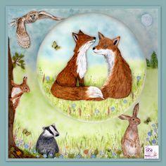 #foxes #badger #wildlife #birthday #cake #barnowl #squirrel #thecupcakerange Foxes, Squirrel, Cake Decorating, Decorative Plates, Wildlife, Birthday Cake, Hand Painted, Badger, Daily Inspiration