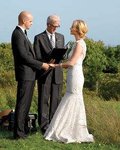 """See the """"The Officiant"""" in our The Wedding Processional Order gallery Wedding Processional Order, Wedding Ceremony, Reception, Lace Wedding, Carolina Herrera Dresses, Religious Wedding, Plan Your Wedding, Wedding Ideas, Wedding Pictures"""