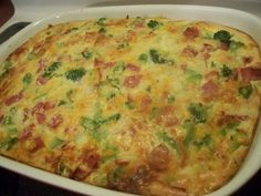 An easy casserole that uses Bisquick baking mix.  Great for leftover holiday ham.  I like that this uses sharp cheddar and swiss cheeses, but you could use all sharp cheddar, if desired.