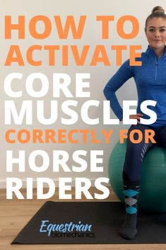If you are wondering how to activate your core muscles correctly for riding, you're in the right place. The core … Dressage, Horse Exercises, Training Exercises, Horse Riding Tips, Equestrian Outfits, Equestrian Fashion, Riding Lessons, Core Muscles, Horse Training