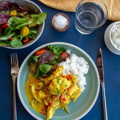Bali kyllinggryte Thai Recipes, Cooking Recipes, Thai Red Curry, Stew, Nom Nom, Food And Drink, Meat, Chicken, Dinner