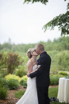 First kiss Bride and groom photography ideas pose www.cwillsphotography.com   Devonian Gardens Edmonton outdoor wedding   Calgary Wedding Photographers
