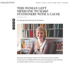 Collective Hub Feature Article - an unexpected honour! Medical Careers, Feature Article, Co Working, Evans, Deer, Profile, Studio, How To Make, Blog