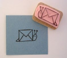 bookspaperscissors:  thesnail:  my new stamp.