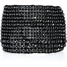 Chan Luu Silver and hematite woven bracelet ❤ liked on Polyvore