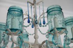 antique ball jar chandelier :)