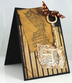 Pam Hornschu #cre8time for the key to a perfect hoot of a birthday card. #Stampendous #Coredinations