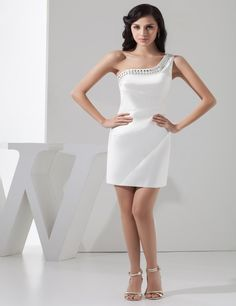 Top quality Cocktail Dresses 2016 Elegant One shoulder Pleats Formal Cocktail Prom Cocktail Dress Vestidos De Coctel Para Bodas