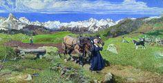 Giovanni Segantini, Primavera sulle Alpi, 1887