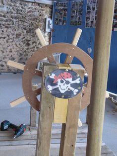 Création d'un bateau de pirates : le gouvernail