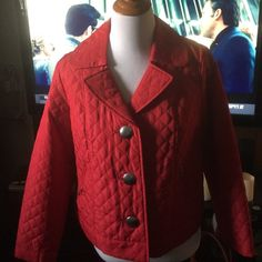 🌺Cherry Red Light Jacket🌺Petite Medium🌺 🌺🌷🌺Light Petite Medium Jacket🌺🌷🌺Perfect For Any Outfit🌺🌺🌺New Condition🎀Never Worn🎀 R Q T Jackets & Coats