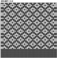編み込みマフラーの作り方|指でかける作り目を41目作り、メリヤス編みを8段編みます。 図案を参照して、横に糸を渡す編み込み模様を編みます。(参考作品は367段編みます) 再度メリヤス編みを編んで伏せ止めをします。 アイロンをかけて、形を整えます。裏地のリネンは、必ず水を通して地直しして、縫い代1cmをつけて断ちます。 縫い代はアイロンで折って整えておきます。 マフラーの両端1目を裏側に折り、マフラーと裏地をまち針でとめてからとじます。 Fair Isle Knitting Patterns, Fair Isle Pattern, Knitting Charts, Loom Knitting, Knitting Stitches, Cross Stitch Embroidery, Embroidery Patterns, Cross Stitch Patterns, Crochet Chart