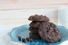 My Chocolaty Chocolate Chip Cookies are jam packed with chocolate in the form of cocoa powder and chocolate chips. Use your favorite chip in this recipe.