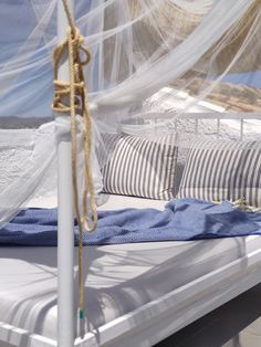 Outdoor bed on the rooftop terrace of Suite 4