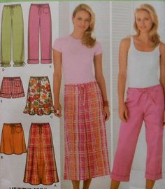 Pants and Skirt Sewing Pattern