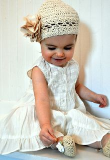 Baby Bella crocheted hat and slippers pattern by Beth Ann Beck