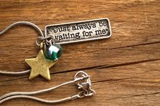 Peter Pan Quote Charm Necklace Once Upon a by FishesGiveKisses