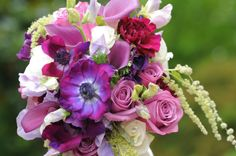 lilac carnations and white lilies - Google Images