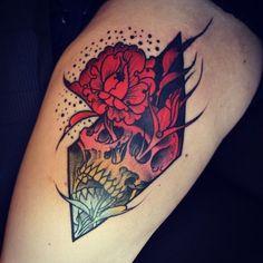 beautiful tattoos awesome tattoos color tattoos skull tattoo ink ...