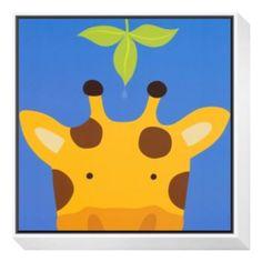 ''Peek-A-Boo VII, Giraffe'' Wood Wall Art