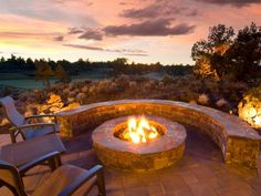 Give your outdoor space warm, year-round appeal and ambiance by adding a stunning fire pit or fireplace.