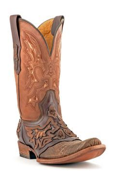 Corral Boots Men's Brown Caiman Cowboy Boots   Men's Boots - free shipping & on sale!