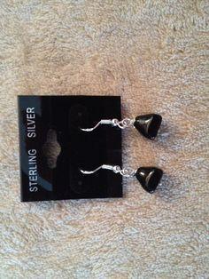 Black Onyx Pyramid Earrings - pinned by pin4etsy.com