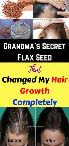Grandma's Secret Flax Seed That Changed My Hair Growth Completely #FlaxSeeds #hair #haircare #hairgrowth #health #healthy #healthyrecipes #healthylifestyle #beauty #homeremedies #homeremedy #beautytips