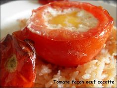 """750g vous propose la recette """"Tomate farcie à l'oeuf, façon cocotte"""" publiée par mesenviesetdelices."""