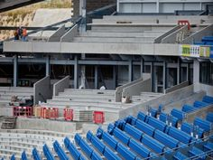 @BHASnappy  #extraseats A week away from the place and Im amazed at the progress. This is the West Stand middle tier work #BHAFC
