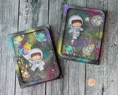 My Favorite Things Birdie Brown Space Explorer Shaker Cards!