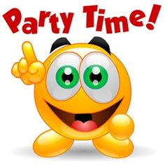 Party Time Smiley - https://www.facebook.com/pages/Great-Jokes-Funny-Pics/182221201794268