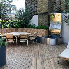Contemporary Roof Terrace in Baker Street Marylebone designed by The Garden Builders