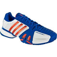 Adidas Barricade 7: Adidas Men's Tennis Shoes White/prime Blue/high Energy