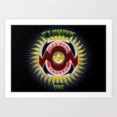 It's Morphin' Time - Green Ranger Art Print by Joshua Epling - $15.08