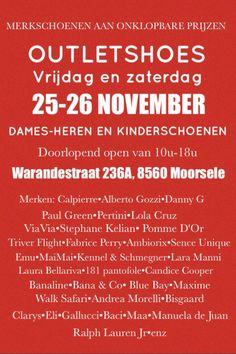 Grote stockverkoop dames heren en kinderschoenen -- Moorsele -- 25/11-26/11