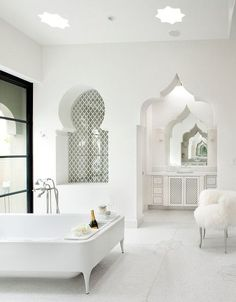 Love this middle eastern inspired bathroom. #home #decor #MoroccanDecor